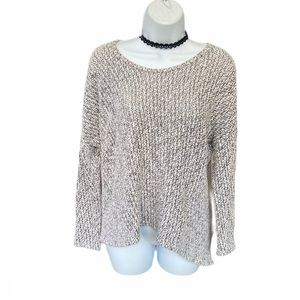 Down East Cozy Knitted Gray Soft Crew Neck Sweater